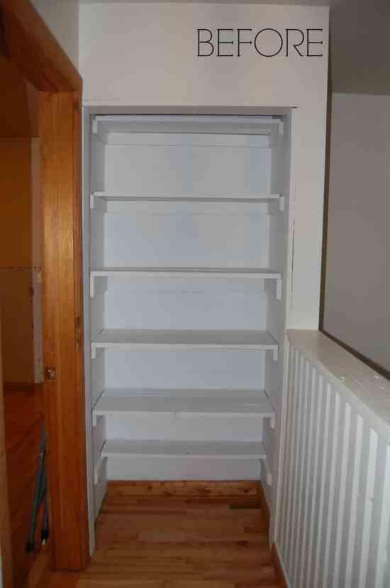 Walk-in Closet Before