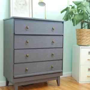 Wall Papered Dresser via diypassion.com