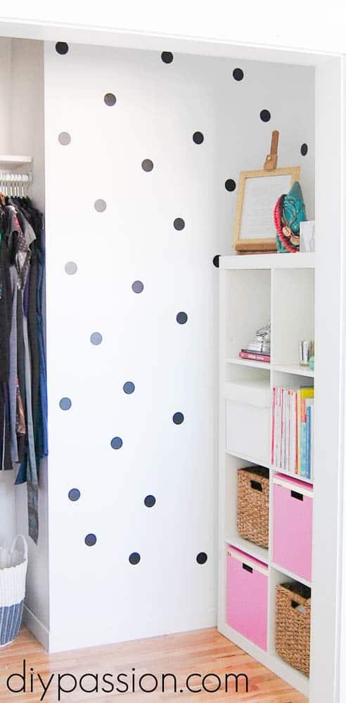 DIY Polka Dot Wall