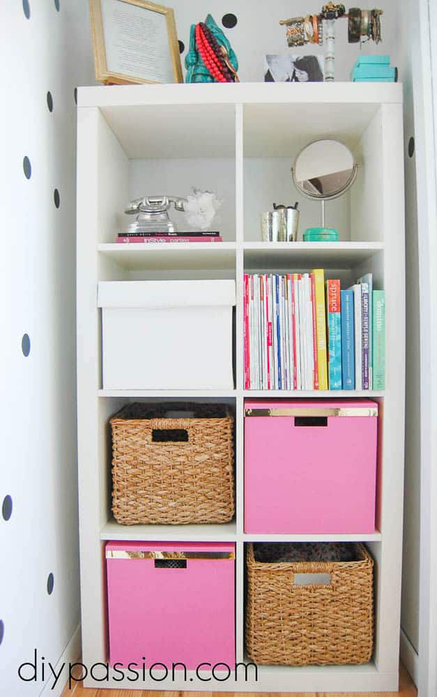 Organized Closet Nook inspired by Kate Spade