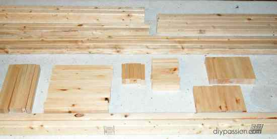 Wood Supplies for DIY Day Bed
