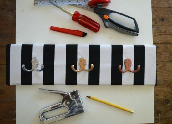 Fabric Covered Entry Hooks Screws