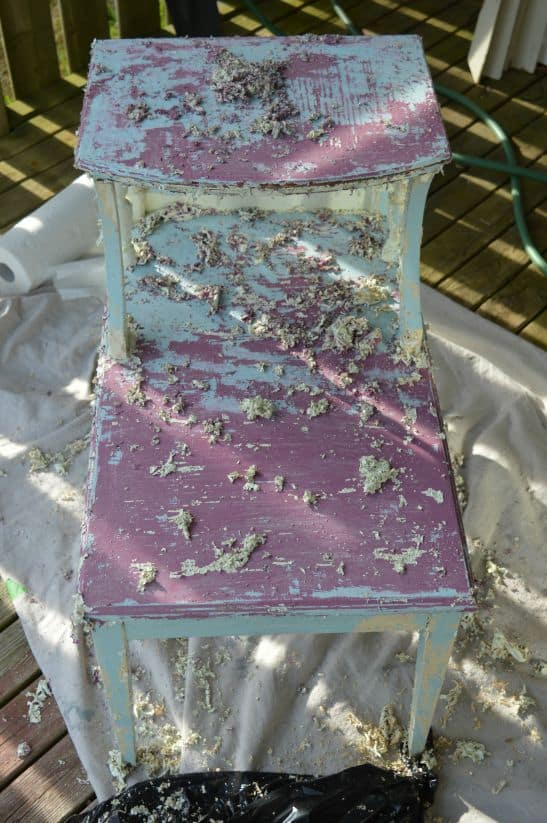 Stripping a Table paint gunk