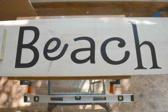 DIY Scrap Wood Sign Beach Letters