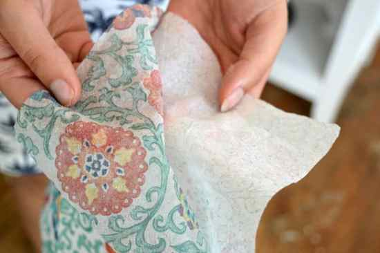 How to mod podge a paper napkin to wood
