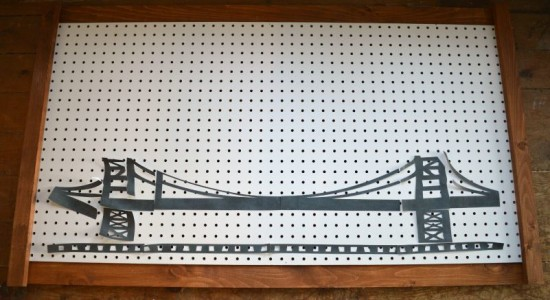 Peg Board Bridge Silhouette
