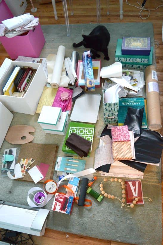 Decluttering Craft Supplies with KonMari