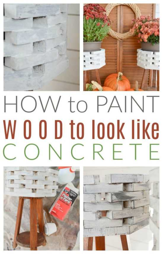How To Paint Wood To Look Like Concrete Diy Passion