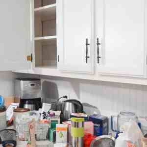 KonMari the Kitchen by emptying cabinets