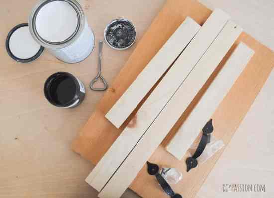 DIY Coffee Tray Supplies