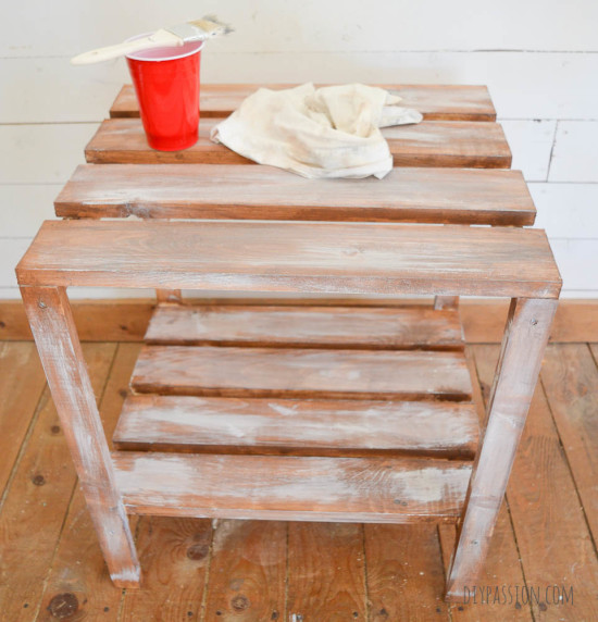Weathered Wooden Table Base