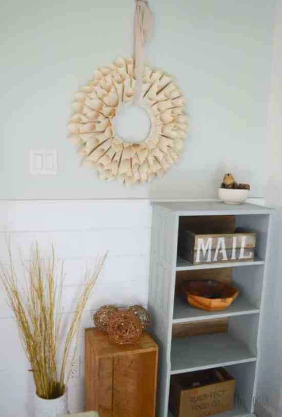 Easy to Make Book Page Wreath
