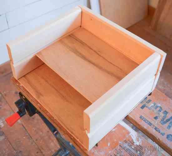 Make a DIY Farmhouse Style Mail Sorter