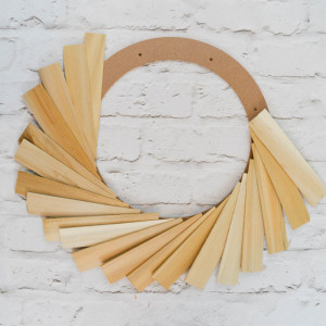 How to make a wood shim wreath