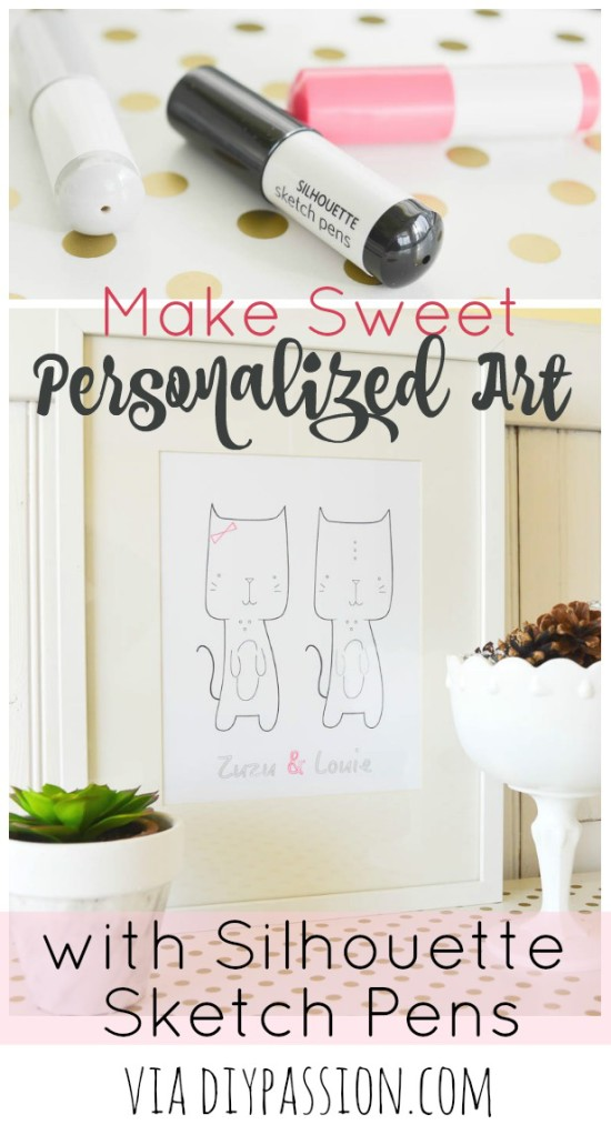 Make Sweet Personalized Art with Silhouette Sketch Pens