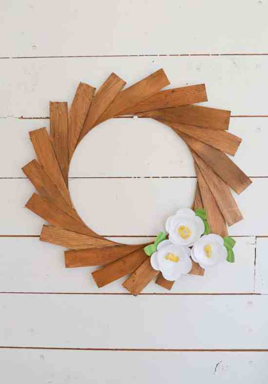 Make a Wood Shim Wreath