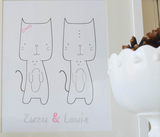 Personalized Cat Art with Sketch Pens