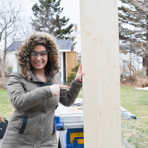 Using a table saw in February