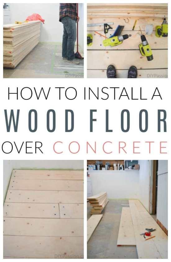 install wood floors on concrete
