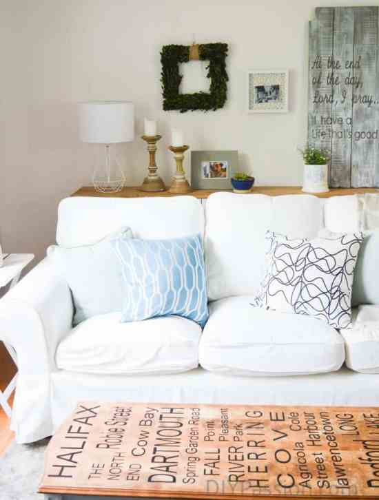 How to work with a white Ikea couch