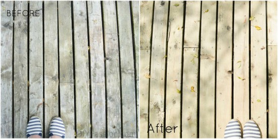 Before and After Side by Side Pressure Washing