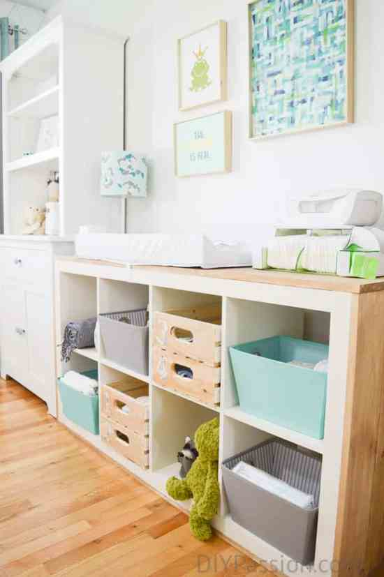 Organize A Nursery And Repurpose Old Furniture: repurpose ikea furniture