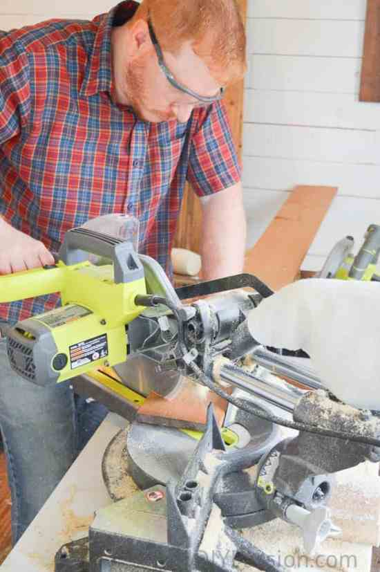 Dan with the Mitre saw