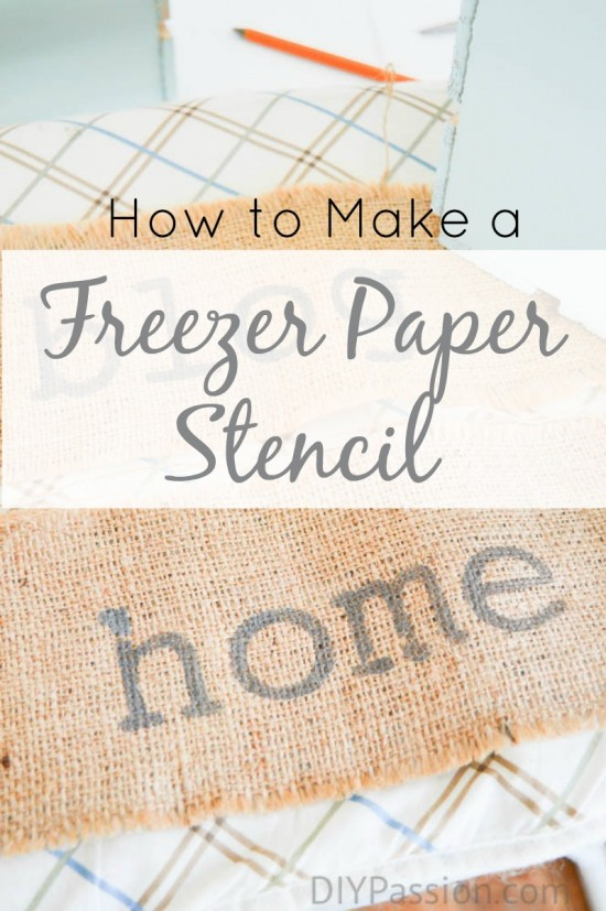 How to make a stencil with a DIY freezer paper template – DIY Passion