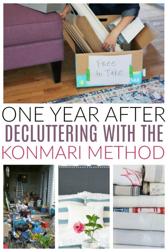 one year after decluttering with konmari