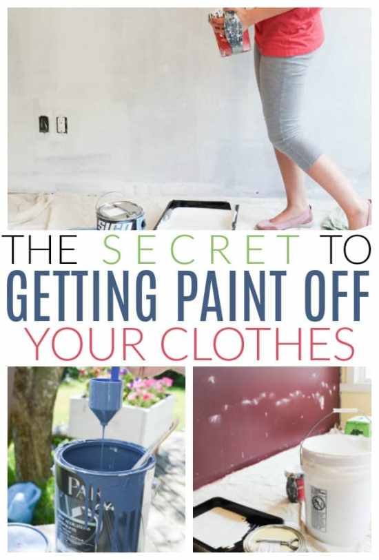 get paint off clothes