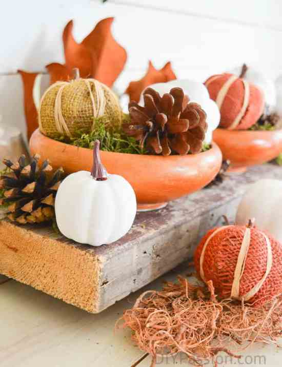 Festive holiday reclaimed wood centrepiece