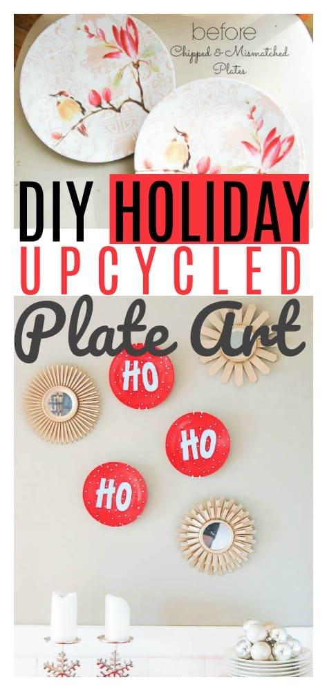 DIY Holiday Upcycled Plate Art