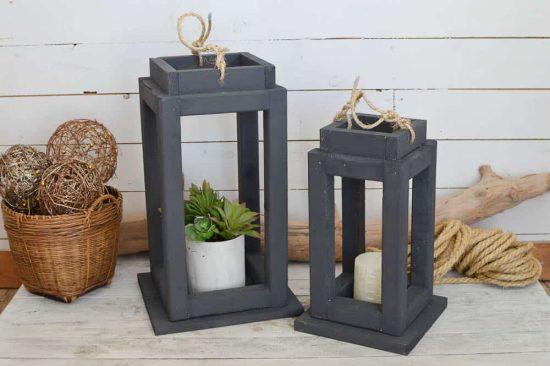 DIY Outdoor Wooden Lanterns