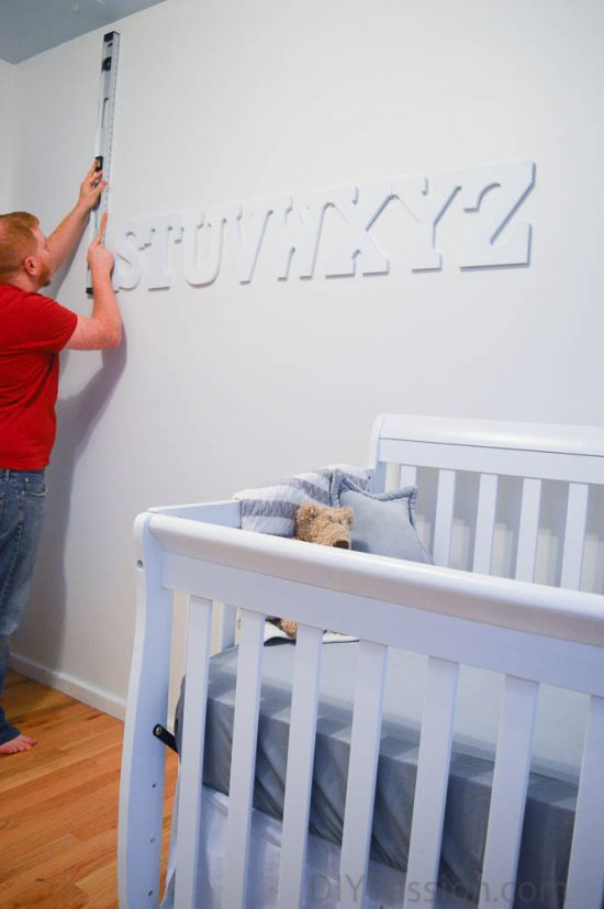 How to Hang an Alphabet Wall - Measure Each Letter