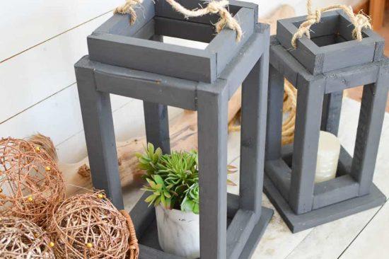 Rustic Wooden Patio Lanterns