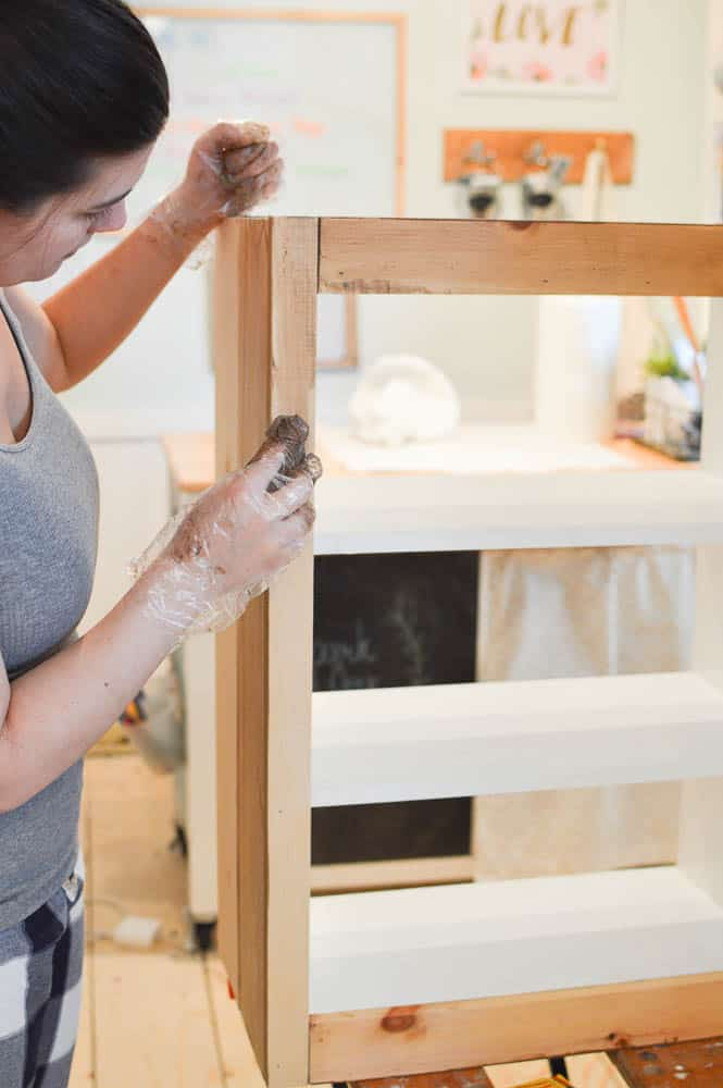 How to Use Tired Kitchen Cabinets in the Playroom
