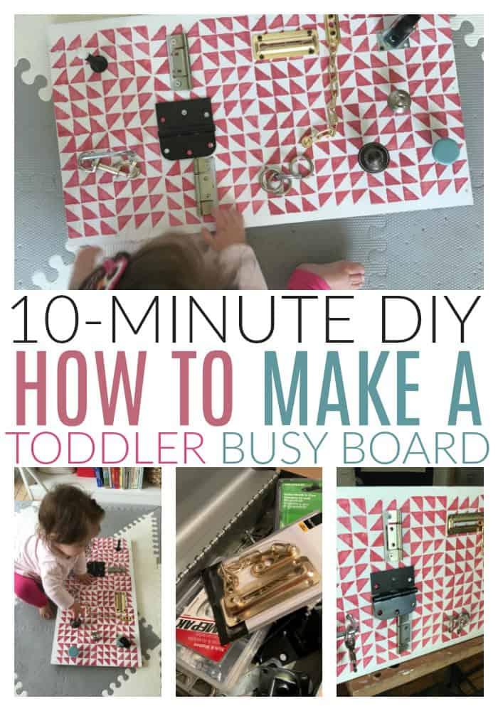 make a diy toddler busy board