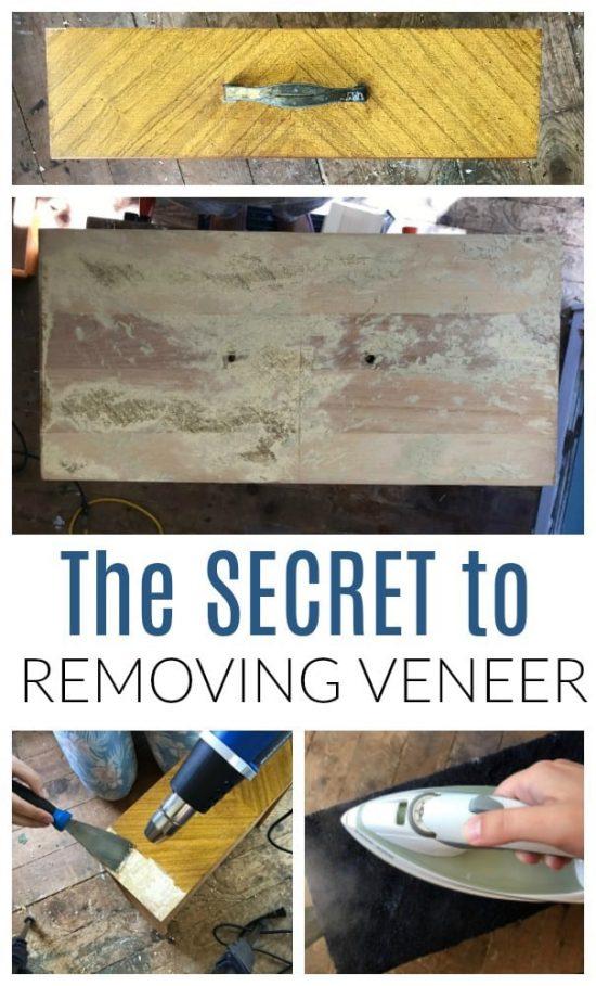 Removing Veneer From Wood Furniture