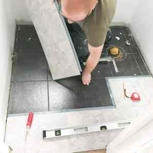 How to install peel and stick tile in the bathroom