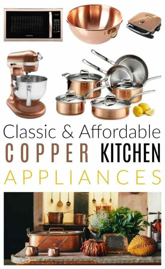copper kitchen appliances