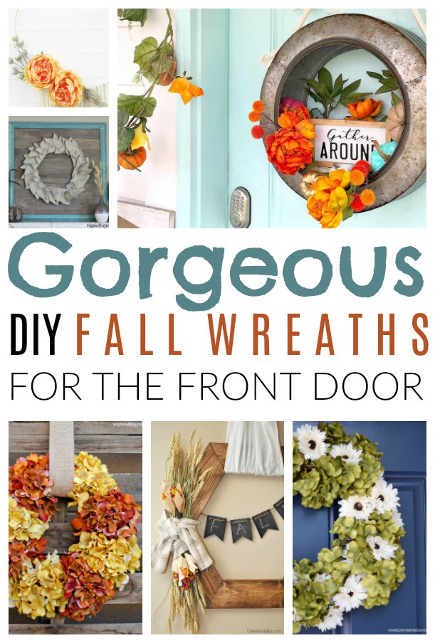 Gorgeous Diy Fall Wreaths For The Front Door Diy Passion