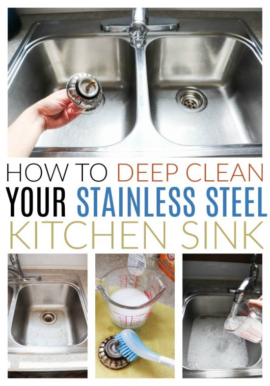 deep clean a stainless steel sink diy