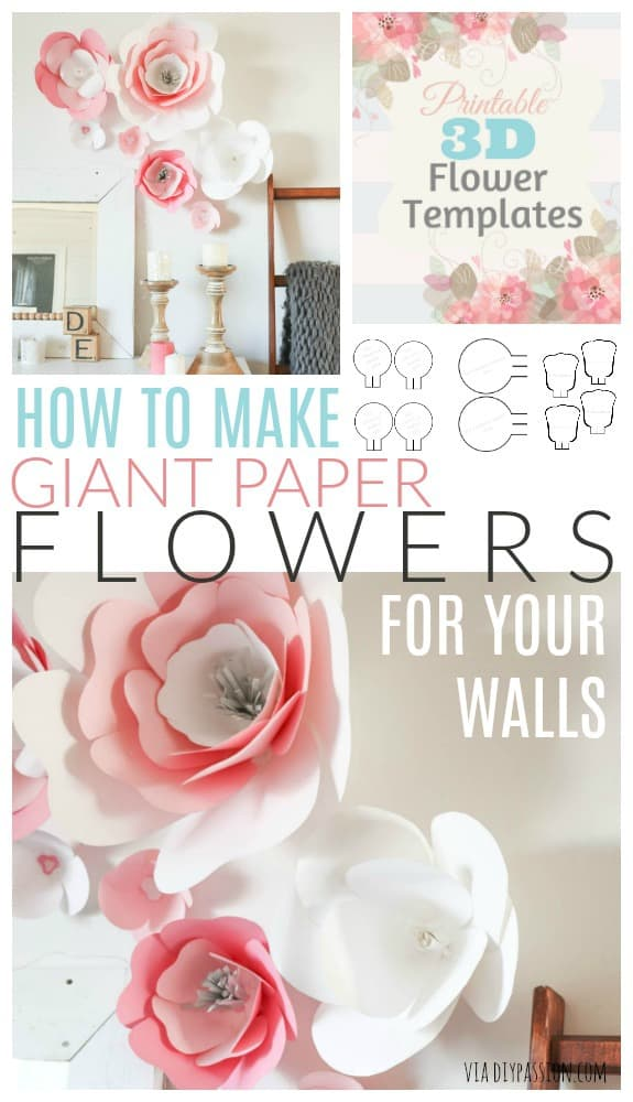 How To Make A Giant Paper Flower Wall Diy Passion