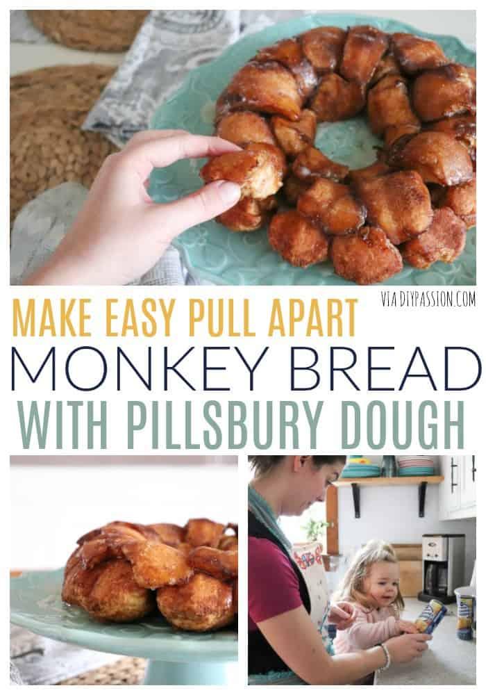 Make Easy Monkey Bread with Pre-made Pillsbury Dough