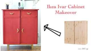 Bold Red Ikea Ivar Cabinet Hack