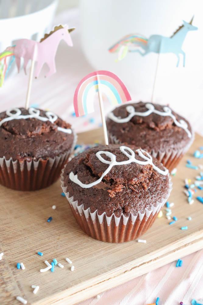 Homemade Hostess Cupcakes with Hazelnut Filling