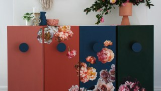 Floral Decoupage Ikea Ivar Hack