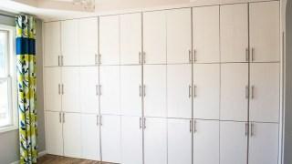 Floor to Ceiling Ikea Ivar Cabinets
