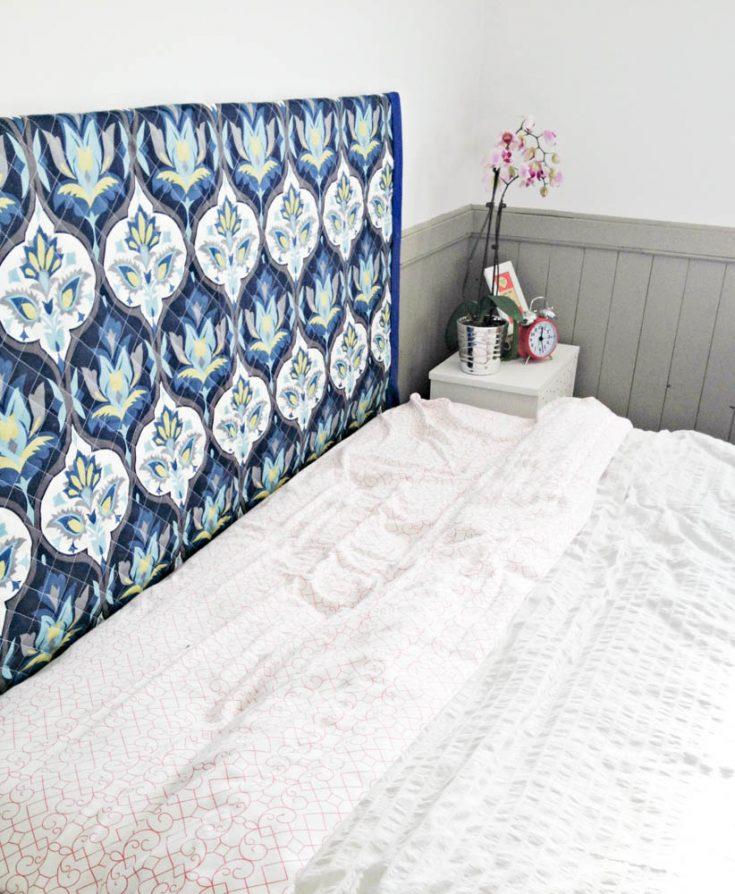 make a diy wall mounted fabric