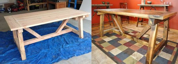 how to make a table look distressed